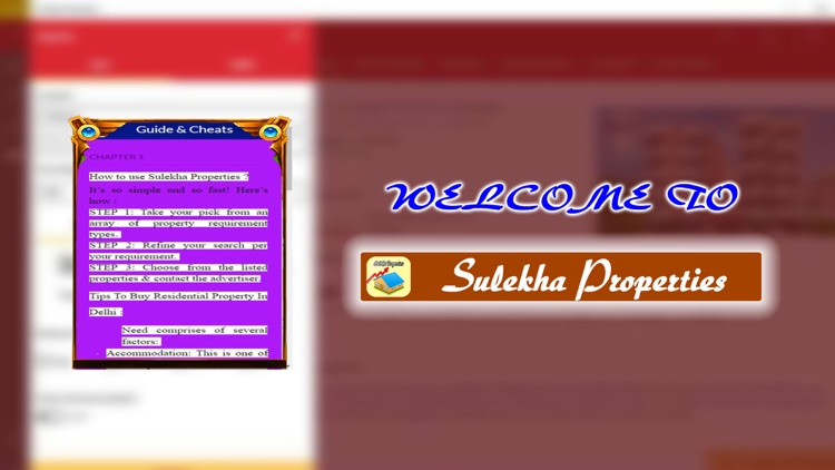 App Guide for Sulekha Properties