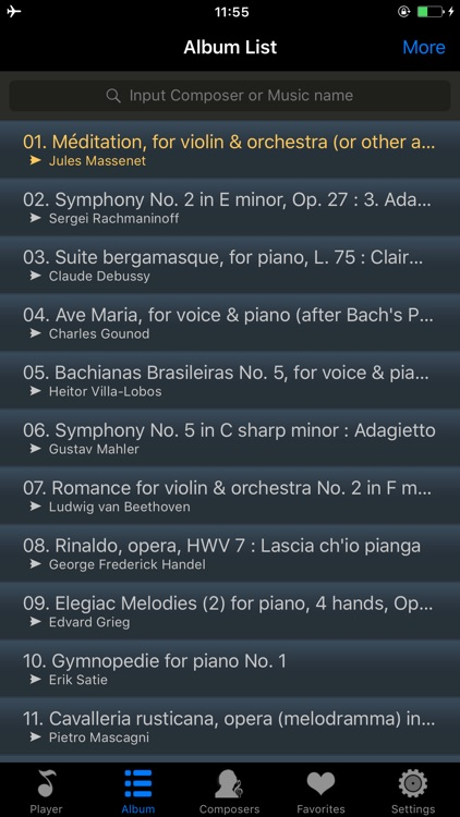 romantic music collection - classical for lovers screenshot-3