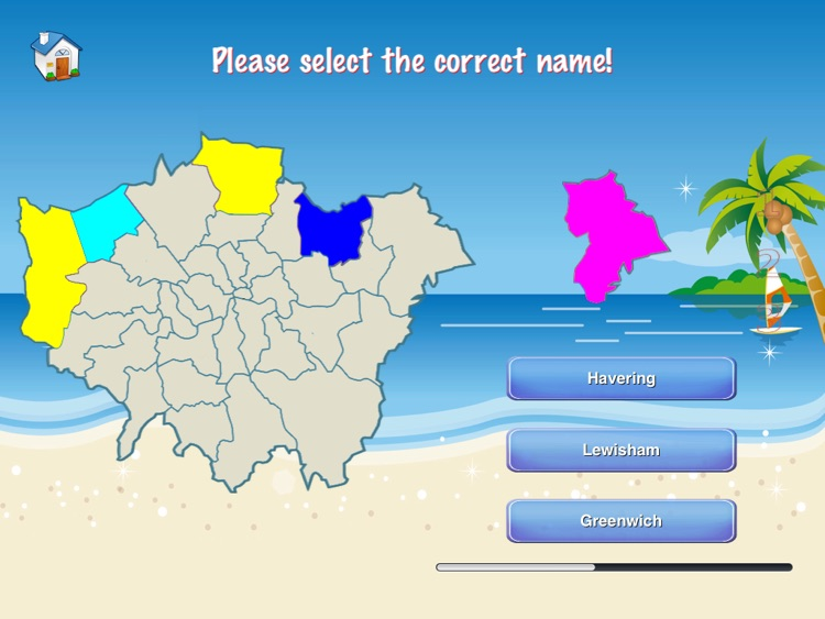 Greater London Puzzle Map screenshot-3