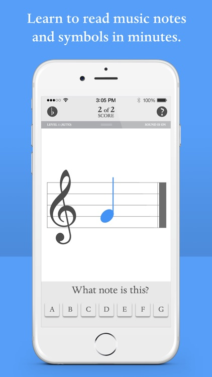 Blue Note: Learn to read music notes - Flash Cards screenshot-0