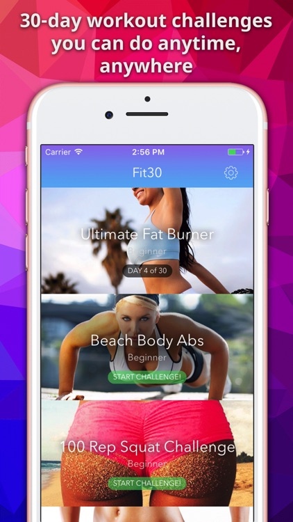 Fit30: Home Workouts Exercise screenshot-0