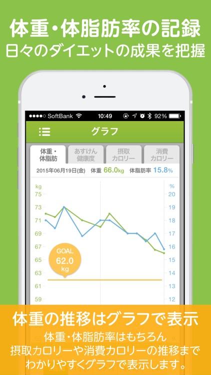 あすけんダイエット-ダイエットのための体重記録とカロリー管理アプリ screenshot-4
