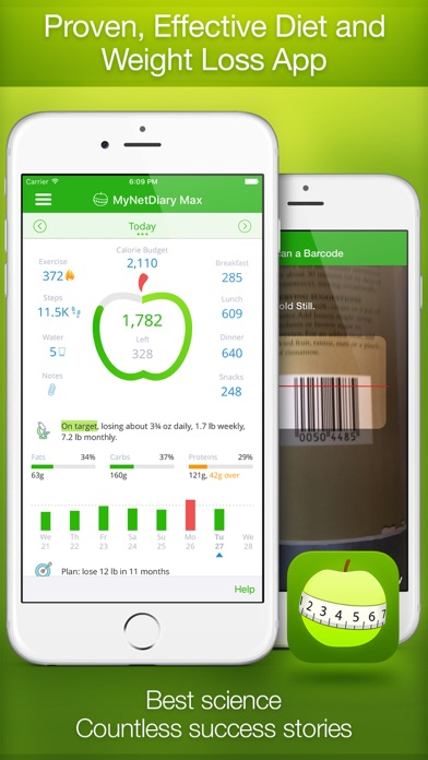 Calorie Counter and Food Diary by MyNetDiary app image