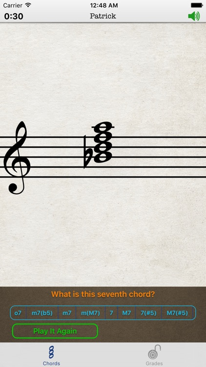 Music Theory Chords for iPhone by Patrick Q. Kelly