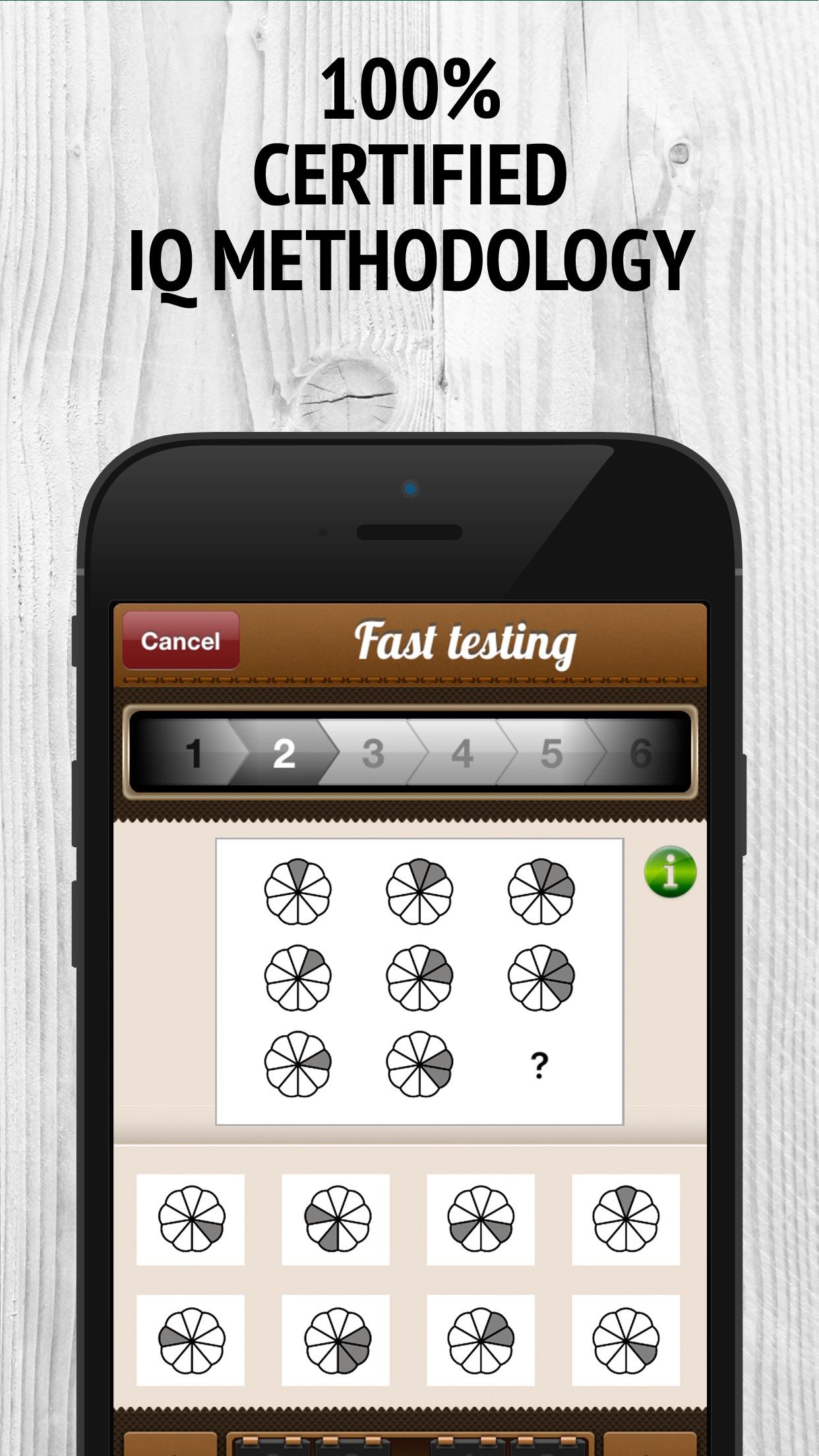 IQ Test Free - Memory Brain Trainer. IQ Scanner, Reader & Navigator. Screenshot
