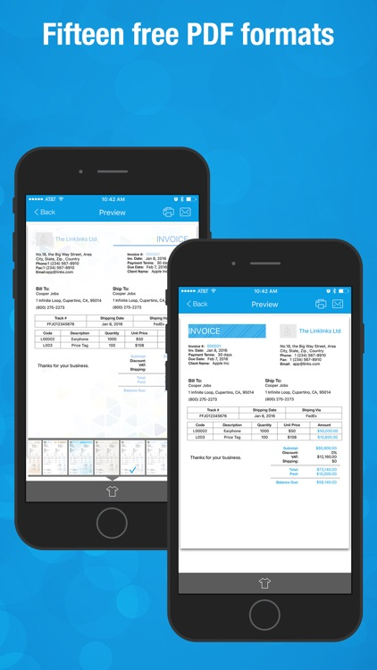 Invoice Wiz Pro - Invoices Maker and Time Tracking screenshot-3