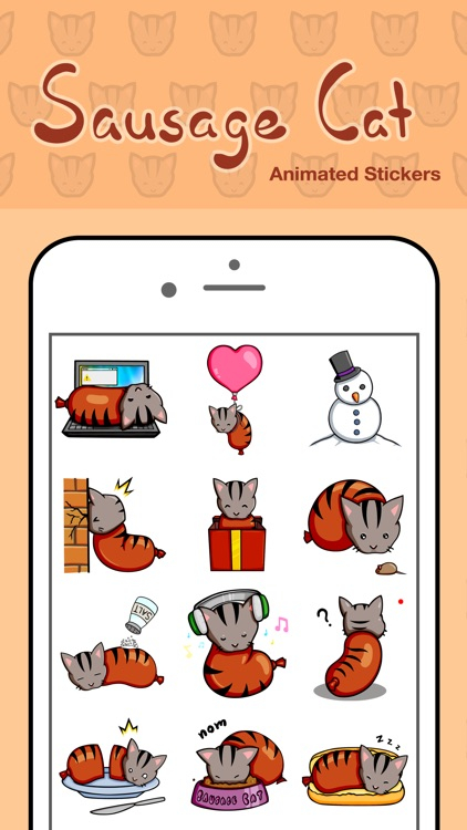 Sausage Cat Animated Stickers
