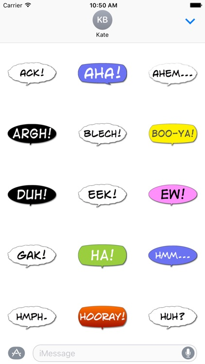 Boo-Ya! Comic Interjection Bubbles screenshot-3