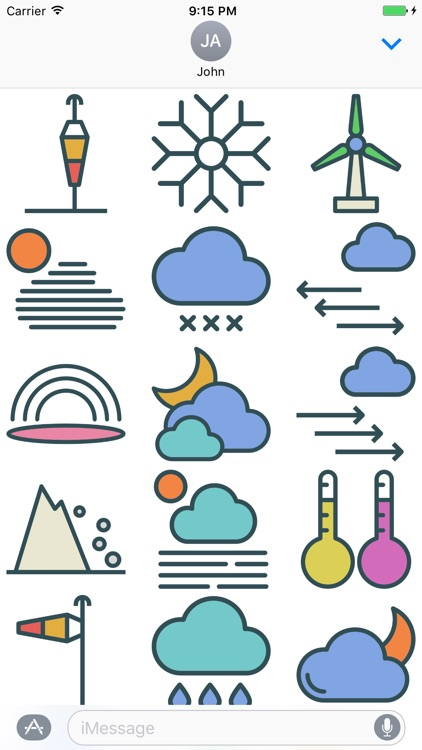 Weather Stickers - Cool Down or Heat Up Messages screenshot-4