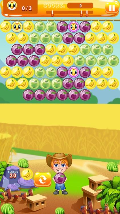 Farmer Bubble Shooter : Pop Farm Fruit Bubbles screenshot-3