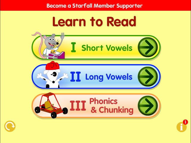 Starfall learn to readable books
