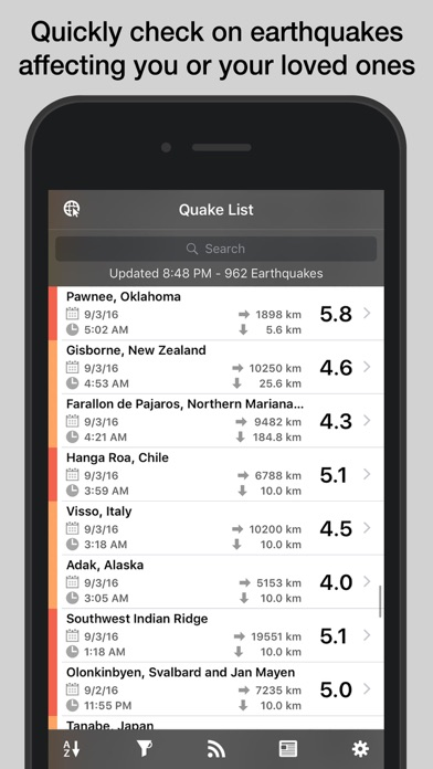 download QuakeFeed Earthquakes apps 4