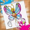美丽公主填色涂色画画游戏