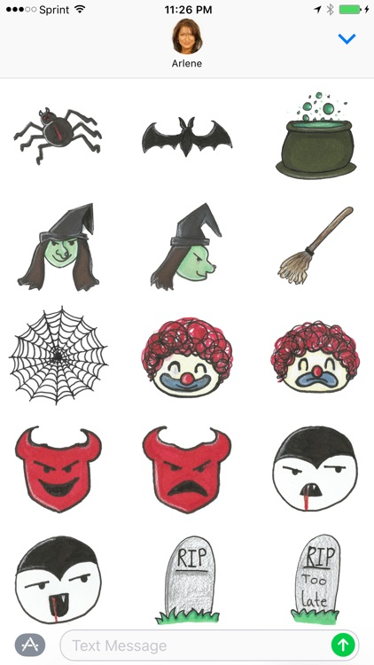 BOO! - Halloween scary & fun sticker pack