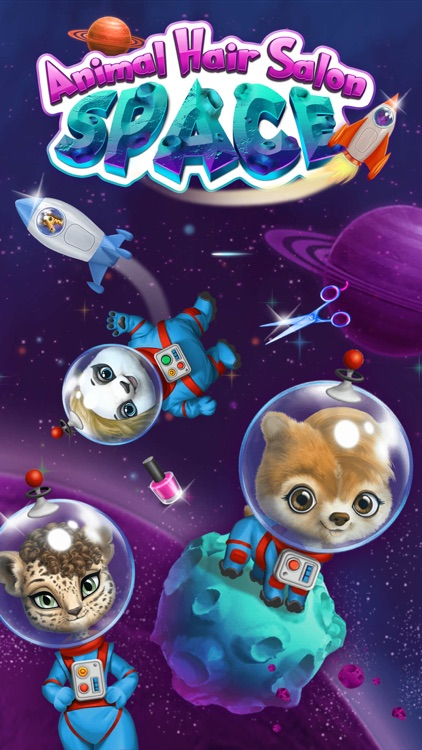 Space Animal Hair Salon – Cosmic Pets Makeover screenshot-0