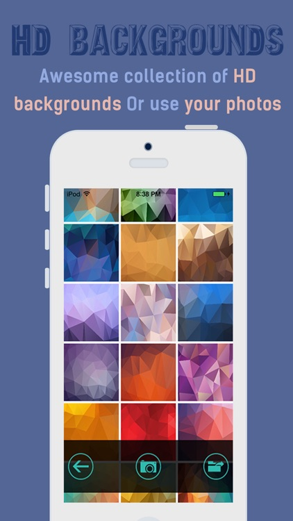 iPolygram- Create your own custom wallpapers and backgrounds screenshot-2