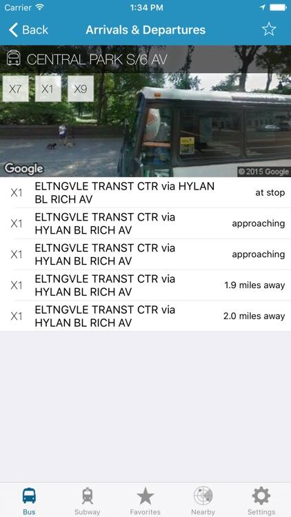 NY Subway & Bus - New York City (NYC) MTA Realtime Transit Tracker and Map screenshot-3