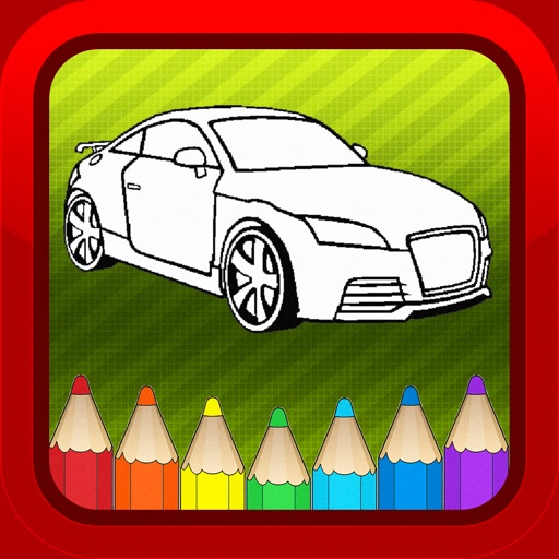 Car Vehicles Kids Coloring Books Pages Games Free iOS App