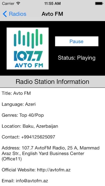 Azerbaijan Radio Live Player (Azərbaycan radio) screenshot-3