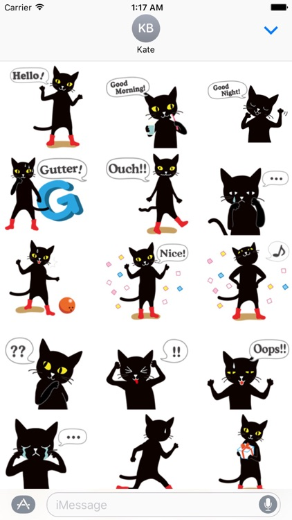 Black Cat Love Bowling Sticker