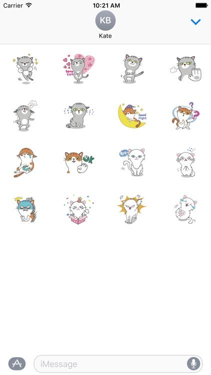 Cats Buddies Stickers
