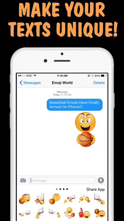 Basketball Emojis Keyboard by Emoji World screenshot-3