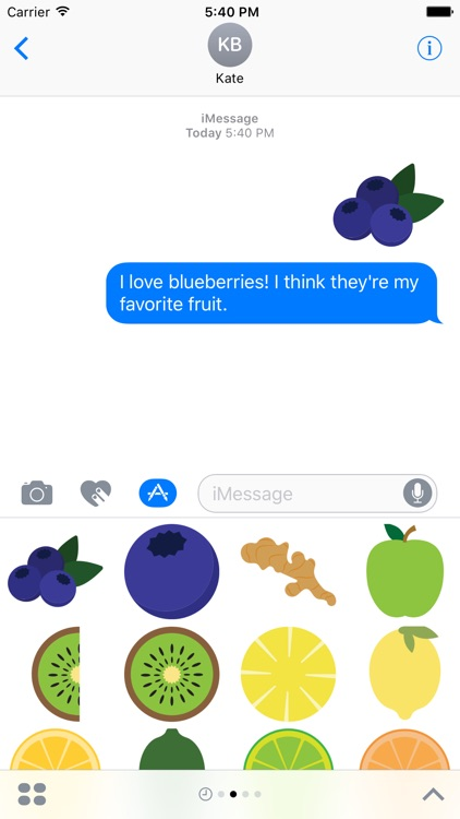 Fruits Sticker Pack for iMessage