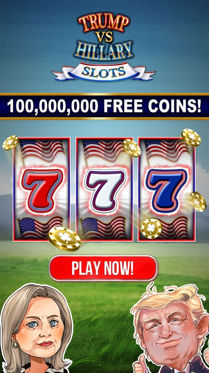 SLOTS: TRUMP vs. HILLARY CLINTON Free Slot Games screenshot-0