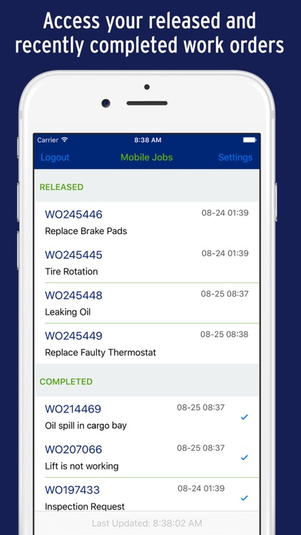 mobile work orders by str software