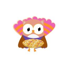 Christmas Owl Stickers - Xmas Turkey Sticker