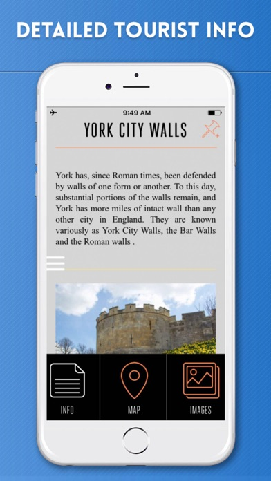 York Travel Guide with Offline City Street Map screenshot three