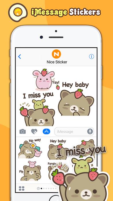 Strawberry Cat - Cute Stickers by NICE Sticker screenshot four