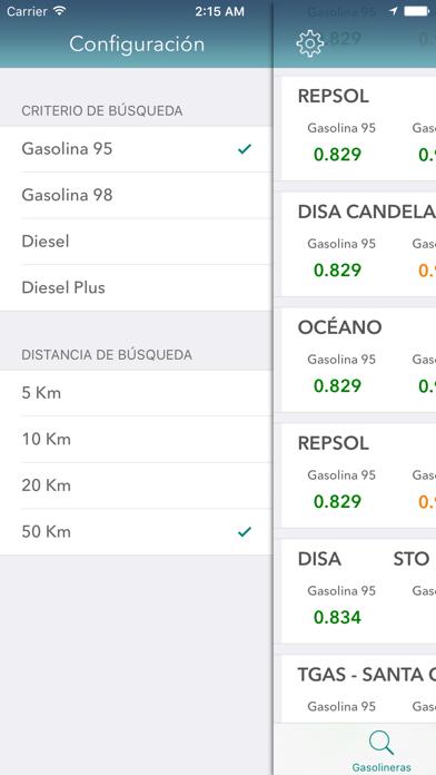 Gasolineras Españolas screenshot two