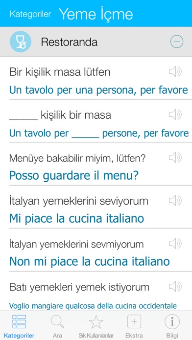 Screenshot for İtalyanca Sözlük - çevir, öğren, konuş in Turkey App Store
