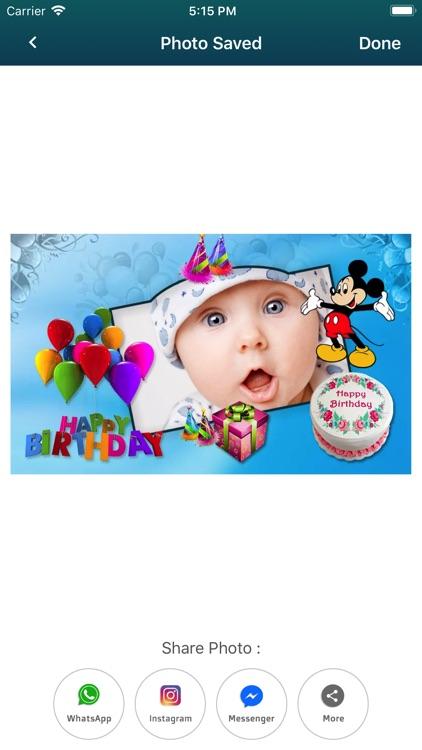 Birthday Photo Frames & Cards screenshot-4