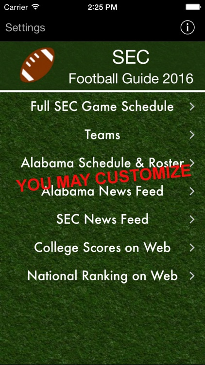 SEC Football Guide 2016 screenshot-0