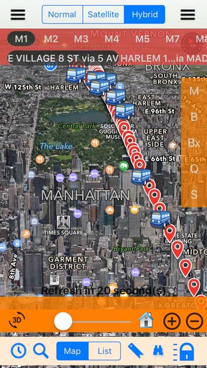 Bus NYC 3D with NOAA Radar Free
