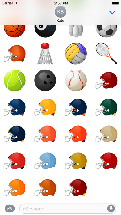 Sports Stickers for iMessage screenshot two