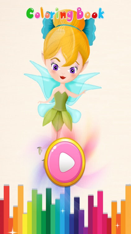 Girls Coloring Book Little Fairies - Game For Kids screenshot-3
