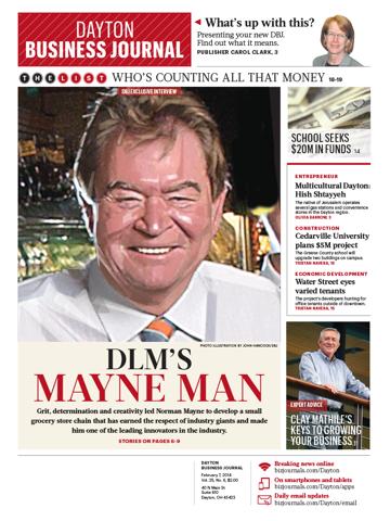 Screenshot of Dayton Business Journal