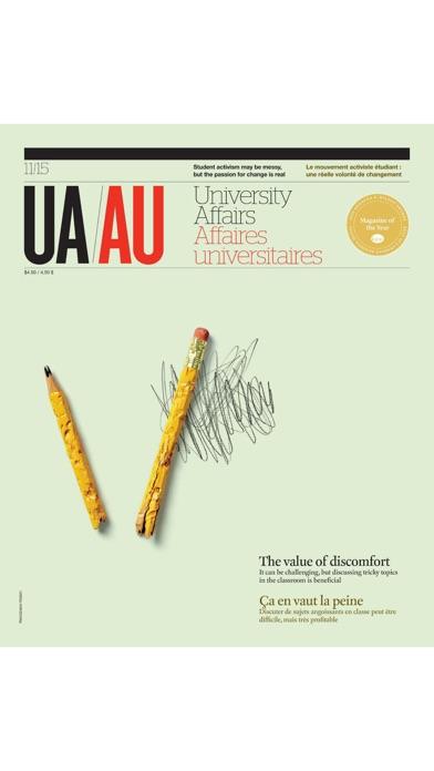 University Affairs Magazine screenshot one
