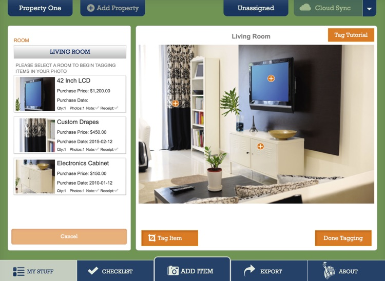 Liberty Mutual Home Gallery® - Household Inventory for iPad screenshot-4