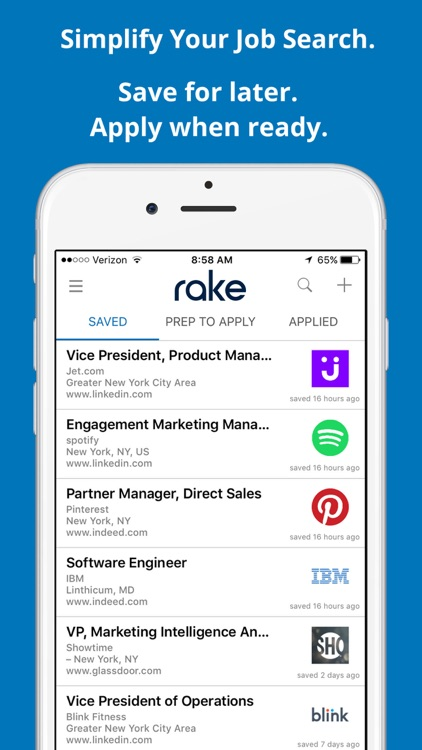 Rake - Job Search Simplified