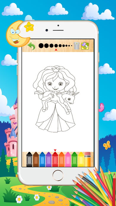 Princess Coloring Book - Paint Learning For Kids screenshot two