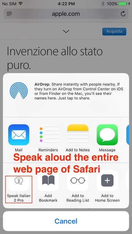 SpeakItalian 2 FREE (6 Italian Text-to-Speech) screenshot-4