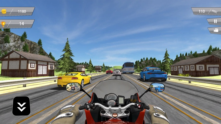 Highway Motorbike Traffic Rider 3D screenshot-3