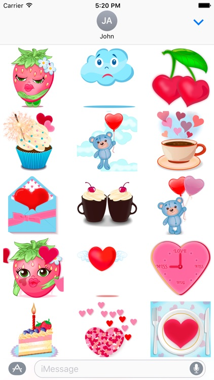 About love - love stickers with hearts and sweets screenshot-3