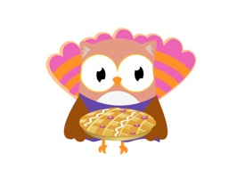 Christmas Owl Stickers - Xmas Turkey Sticker
