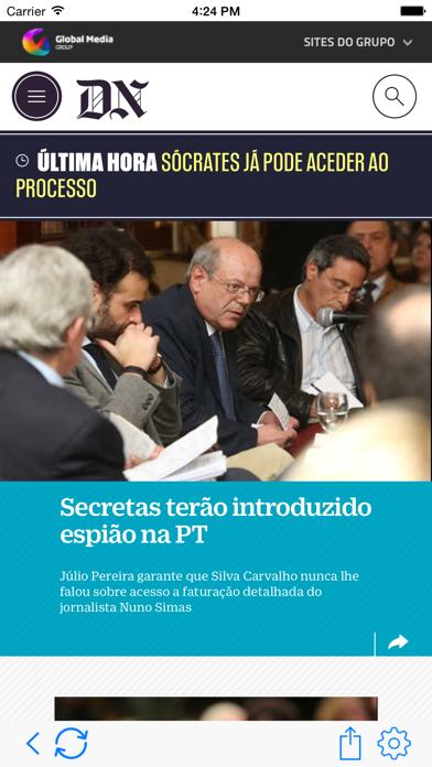 Diário de Notícias screenshot one