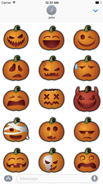Pumpkin - Halloween stickers